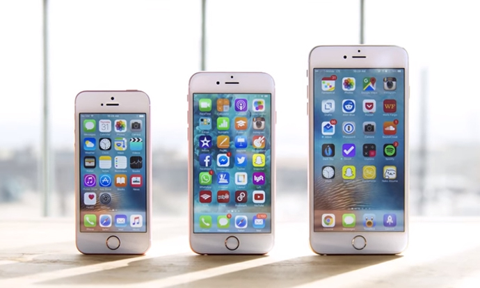 iphone se vs 6as