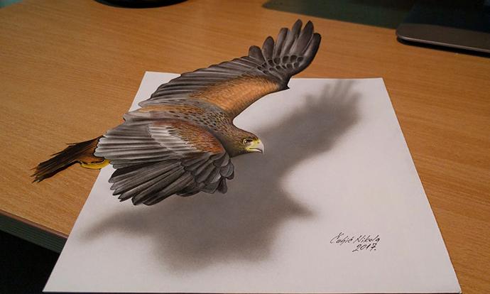 Цртежи во 3D што излегуваат од хартија во реалноста