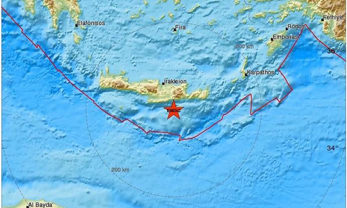 Два земјотреса го погодија грчкиот остров Крит