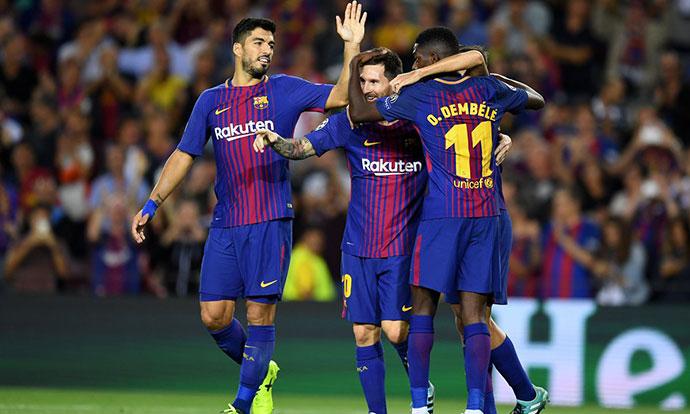 ЛШ  Барселона доминантна против Јувентус  фаворитите стигнаа до лесни победи