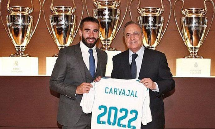 Дани Карвахал го продолжи договорот со Реал Мадрид