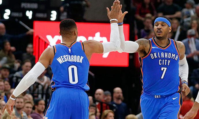 НБА  Вестбрук стигна до стоттиот трипл дабл во кариерата