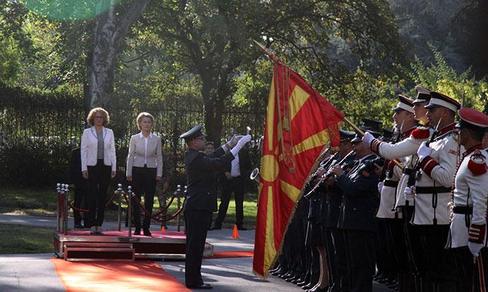 Германската министерка за одбрана во посета на Македонија