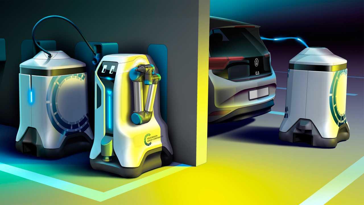 Volkswagen развива робот кој ќе полни електрични автомобили