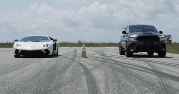 Кој ќе победи во трка меѓу Lamborghini и SUV од 1.027 КС?