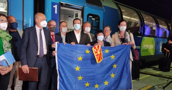 """""""Европскиот воз"""" пристигна во Скопје"""
